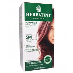 意大利Herbatint天然植物染发剂 5M-浅红褐亚麻色 40余年无氨植物染发专家 孕妇可用